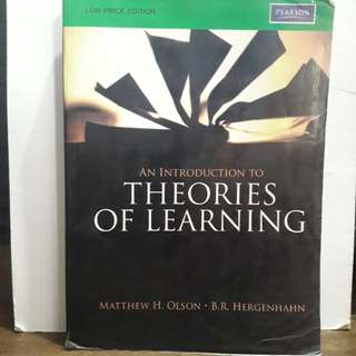 An Introduction to Theories of Learning 8th Edition by Matthew H. Olson and B.R. Hergenhahn