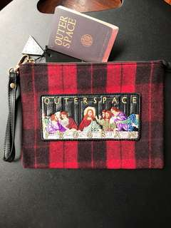 OUTER SPACE Last Supper Embroidery Pouch