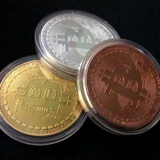 Bitcoin 比特幣 禮品 / 收藏紀念幣 1套3色