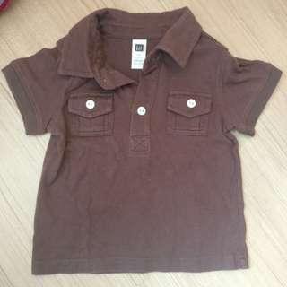 Baby GAP baby boy brown shirt (Preloved)