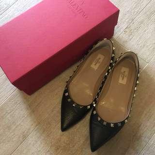 Valentino 平底鞋 黑色 size 38.5