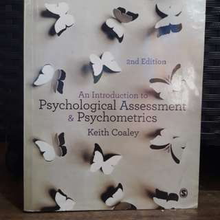 An Introduction to Psychological Assessment and Psychometrics 2nd edition by Keith Coaley