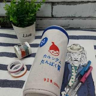 日系每日牛乳帆布筆袋✏