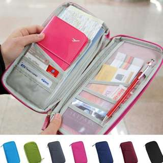 Travel Organizer Passport Credit Card ID Card Holder Cash Organizer Storage Bag Purse Wallet
