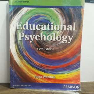 Educational Psychology 12th Edition by Anita Woolfolmk