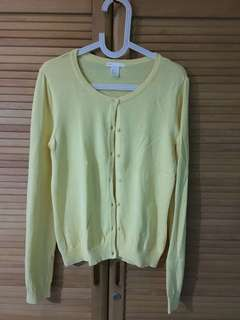 H&M yellow cardigan
