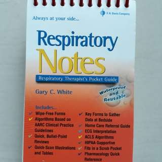 Respiratory  Notes - Therapist's Pocket Guide