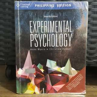 Experimental Psychology Seventh Edition by Anne Myers and Christine Hansen