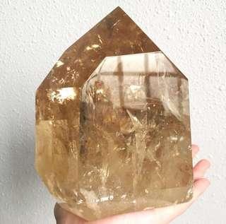 🌟Golden Citrine Large Crystal Point 2.5kg