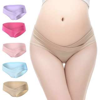 3 Pieces Maternity V Low Waist Panties