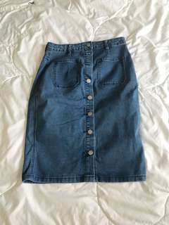Forever 21 Denim Skirt Medium