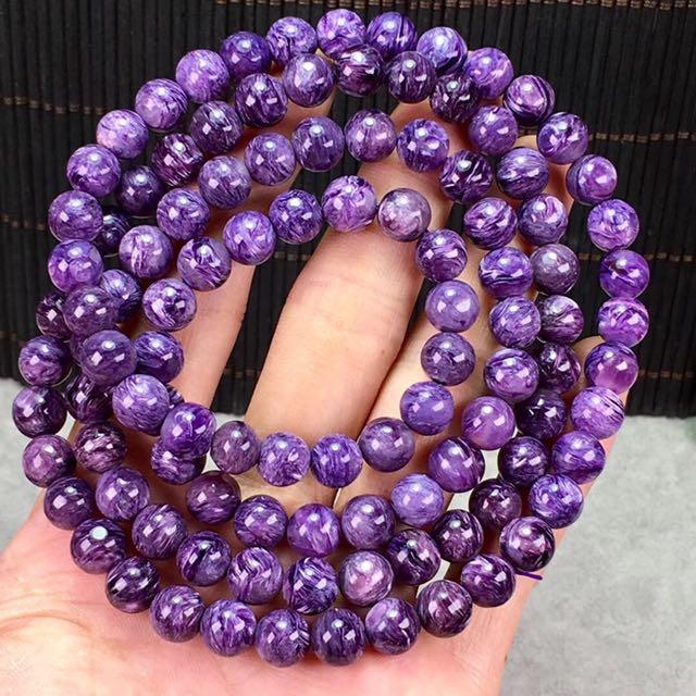 天然紫龍晶108顆 直徑8mm頂級龍紋表面帶光此款屬於客製化商品