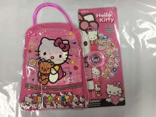 Hello Kitty Pencil case and watch