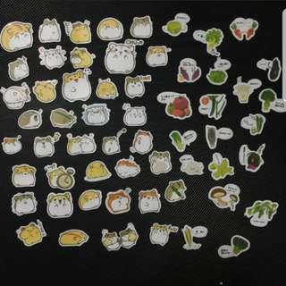 CHEAP INSTOCKS(cute hamsters/veggie stickers)7