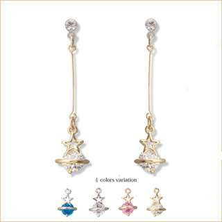 日本訂購🐧星星珍珠 長耳環耳夾Japan pre-order stars pearl long earrings/ ear clip