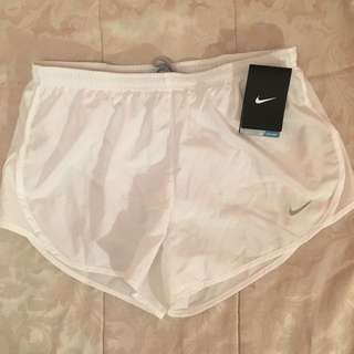 New white Nike shorts