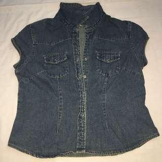 Denim semi jeans jacket
