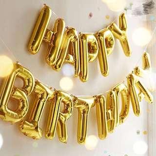 Happy Birthday氣球 party裝飾