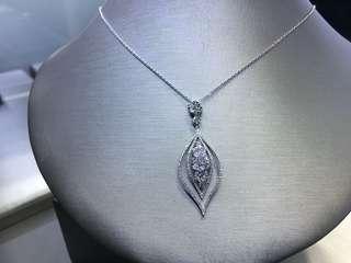 18k白金鑽石吊咀