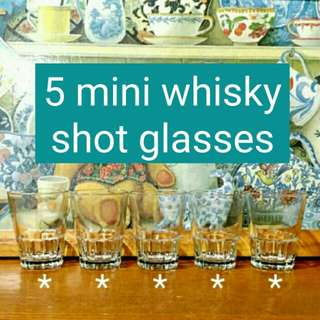 5 Mini Whisky Shot Glass