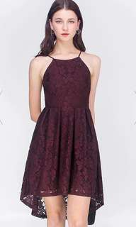 Anya Asymmetric Lace Dress