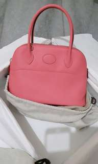 hermes Bolide sz 27 wrna rose azalea leather swift