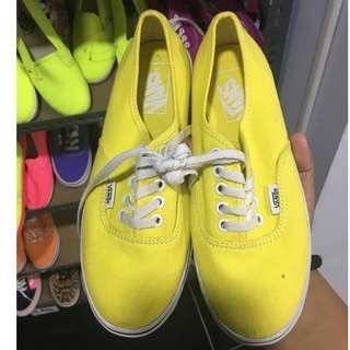Vans Authentic Slim - Yellow Size 5