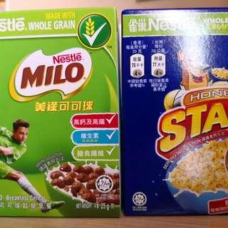 Breakfast cereal蜜糖星星 美祿脆脆