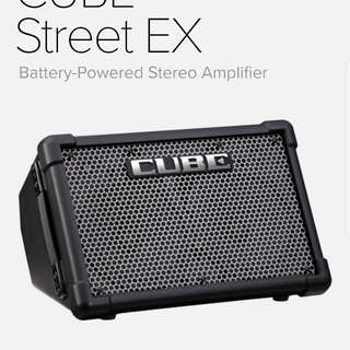 Roland Cube Street EX Amplifier for rent (portable battery-powered PA system speaker)