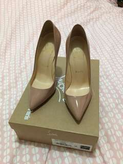 Christian Lounoutin Nude Patent pigalle Sz 36