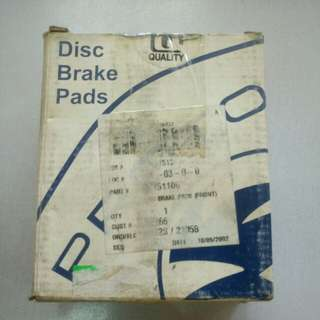 PROTON TIARA DISC BRAKE PADS FRONT GENUINE PART