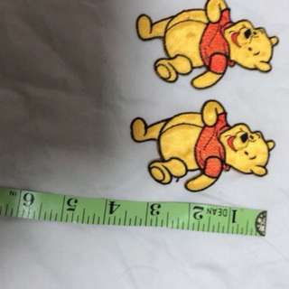 Exclusive Iron Ons. Pooh. Bear ea. $1 the rest $0.80