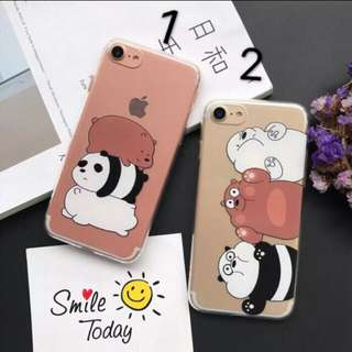 [PO] IPhone We Bare Bears Clear Case
