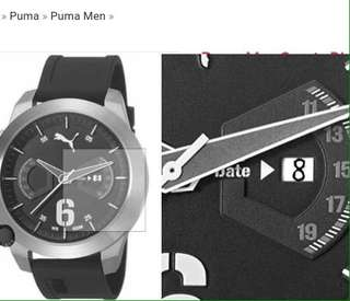 Puma men black watch
