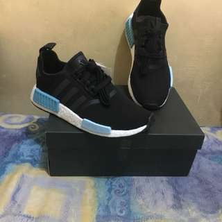 Nmd R1 black icey blue