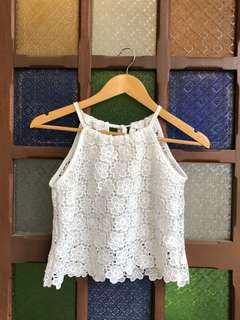 White lace top (only used twice!!)