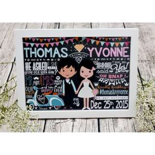 ♥Personalised Chalkboard for Wedding Reception / Photo shoot♥