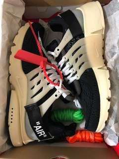The ten : Nike x off white presto. Us 9