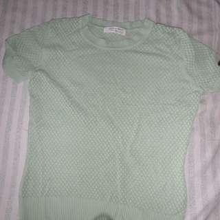 Pastel green top