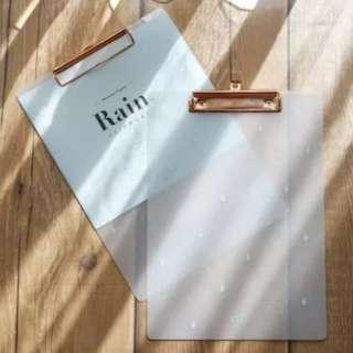 Bundle Promo ! Rose Gold Clipboard and Ruler
