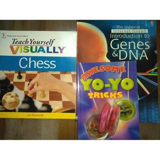 Hobby Books - Chess, Science, Yo-yo