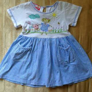 Blue Dress for Baby Girl From U.S