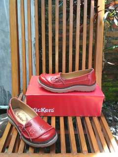 Sepatu kickers pita original leather