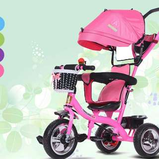 Children Three Wheel Balance Authentic Folding Portable Tricycle Bike