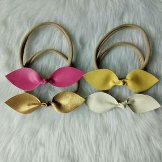 Leather Bowknot Headband