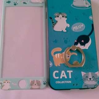 Iphone 6 /6s 浮雕 可愛猫咪 手機套 mon貼