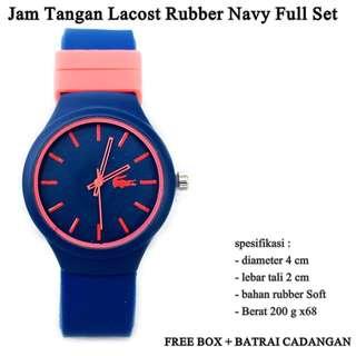jam tangan murah Lacost rubber navy