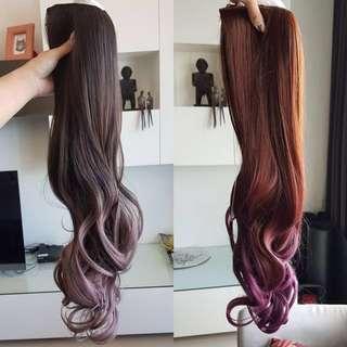 🚚 全新髮片 黑*灰紫