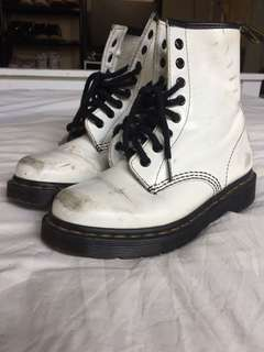 Dr martens worn in white boots