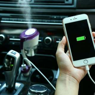 Pelembab mobil dan 2usb charger